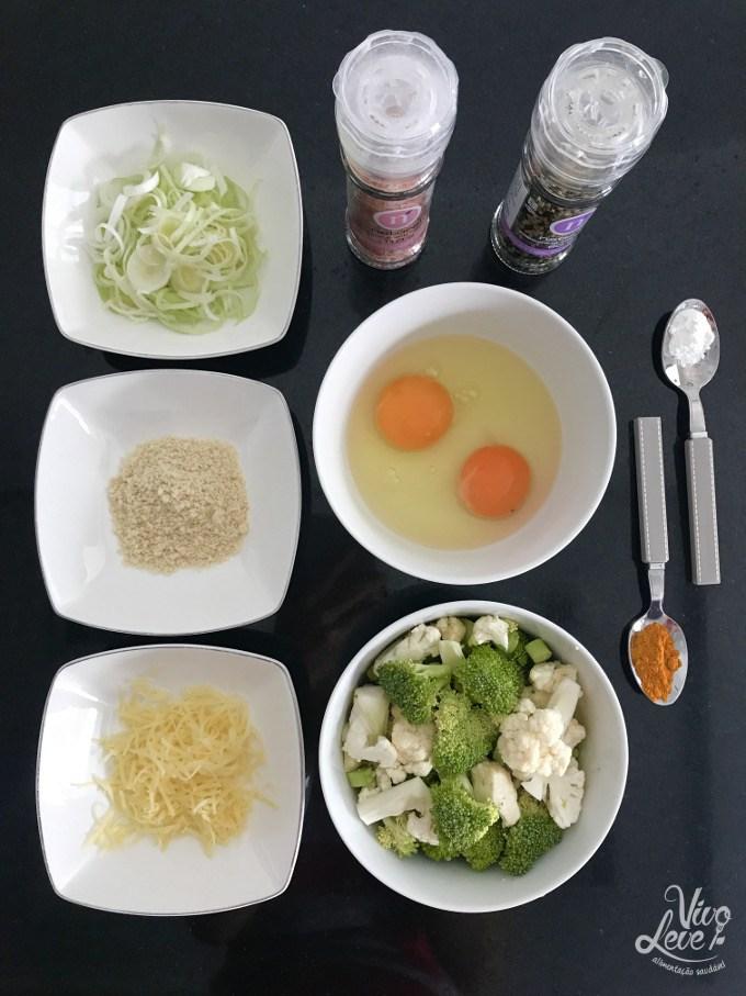 ingredientes panqueca low carb brocolis