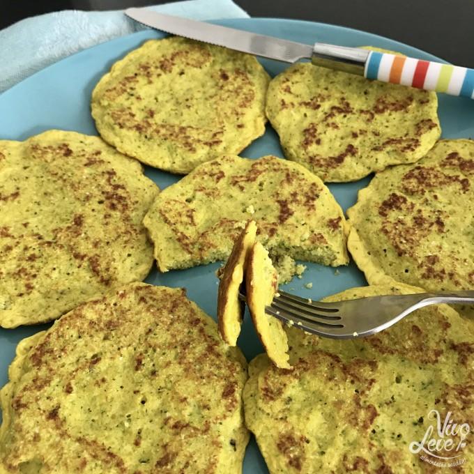 panqueca low carb brocolis