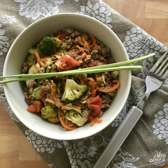 receita carne moida com legumes