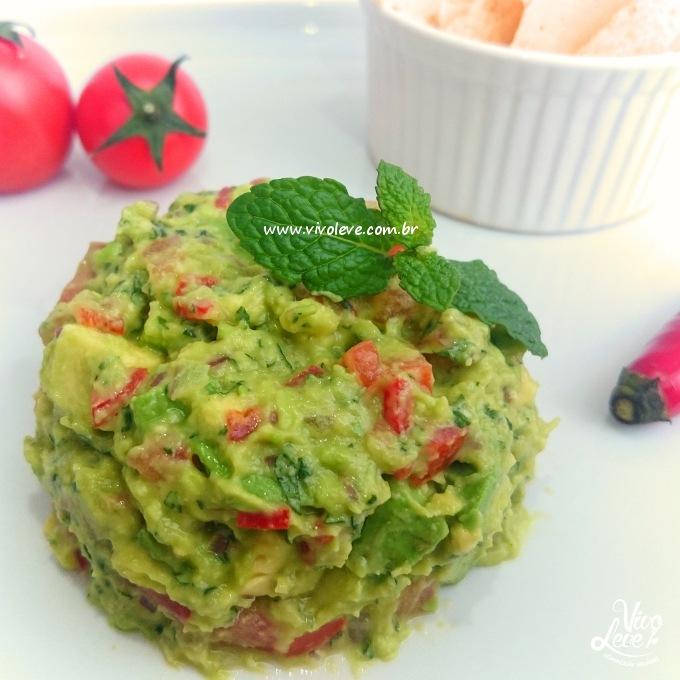 receita low carb com abacate guacamole