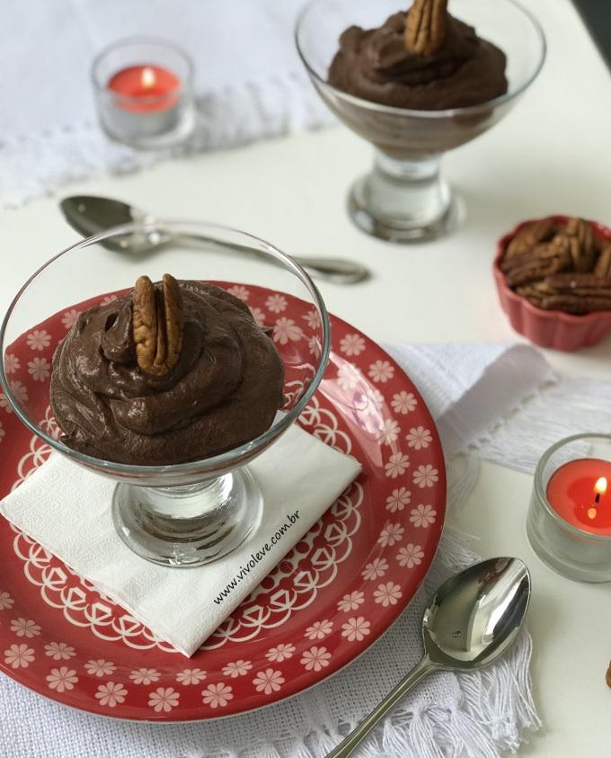 mousse de chocolate creme de leite low carb