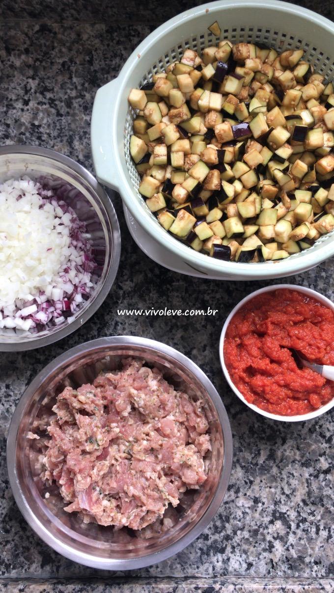 ingredientes berinjela low carb