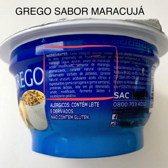 iogurte grego com sabor
