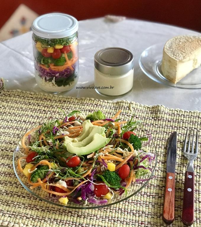 salada no pote vivo leve