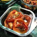 tomates assados com ervas frescas