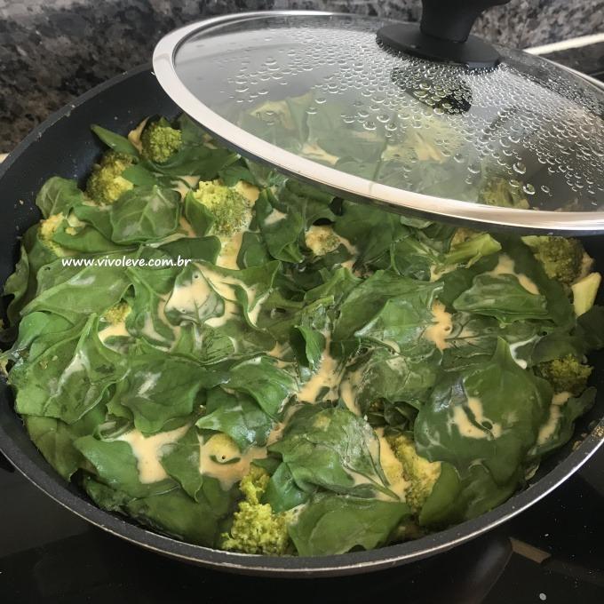 pizza saudavel brocolis e espinafre